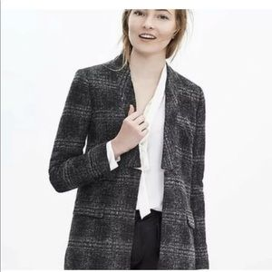 NWT BANANA REPUBLIC WOOL PLAID BLAZER 00P PETITE